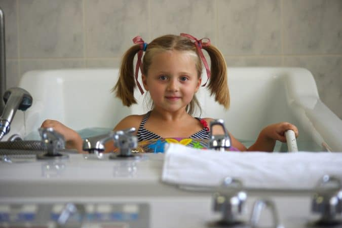حوض المياه المعدينه للاطفال