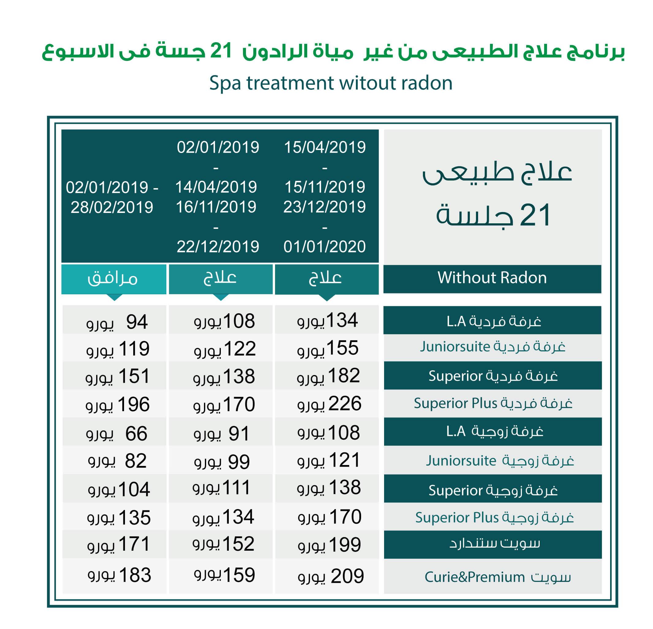 1 - اسعار مصحات ياخيموف